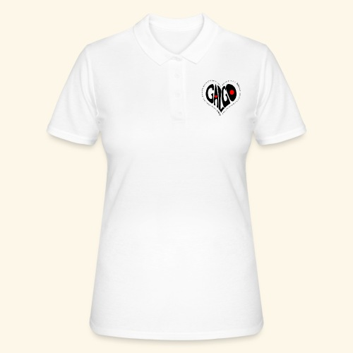 Corazon Galgo texto Negro - Women's Polo Shirt