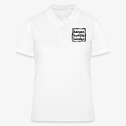 Kanax Hustle Harder black - Frauen Polo Shirt