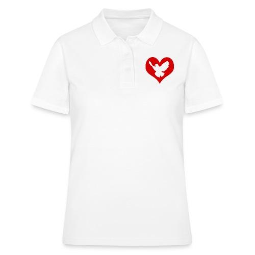 Peace & Love - Frauen Polo Shirt