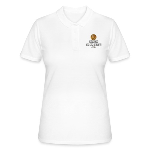 Bitcoin on my heart! - Women's Polo Shirt