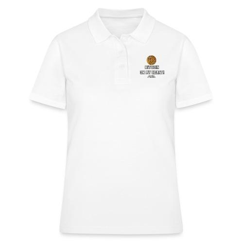 Bitcoin on my heart! - Women's Polo Shirt