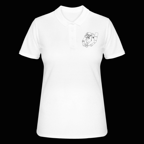 taucher outline mittel PRIVAT - Frauen Polo Shirt