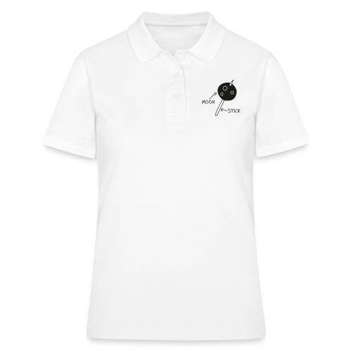 Moon on a Stick (white on dark background) - Women's Polo Shirt