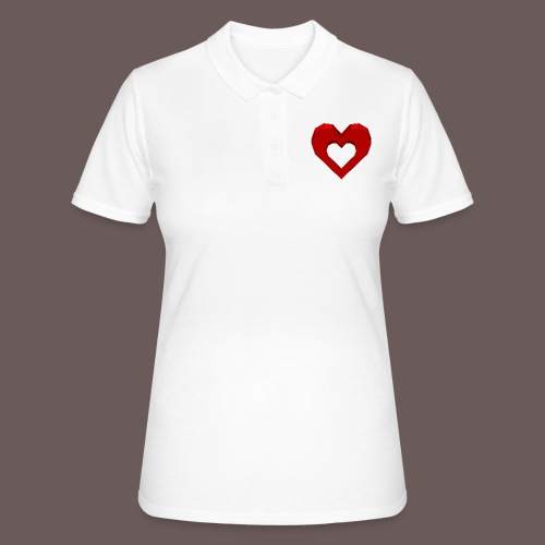 Heart Illusion - Women's Polo Shirt