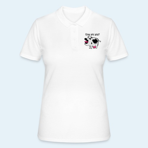 Cow are you? - Camiseta polo mujer