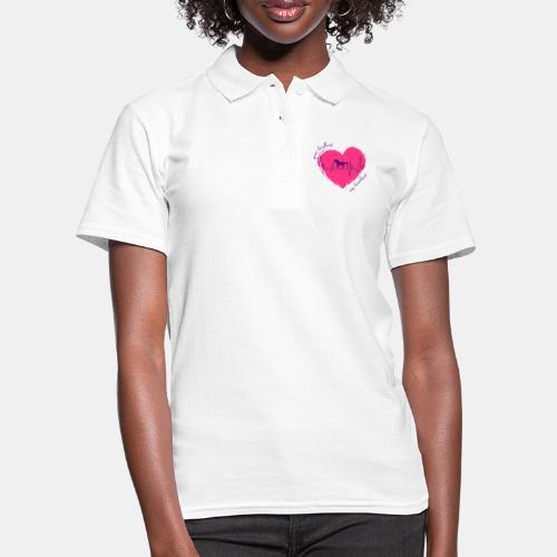 your hoofbeat is my heartbeat galopp_pferd - Frauen Polo Shirt