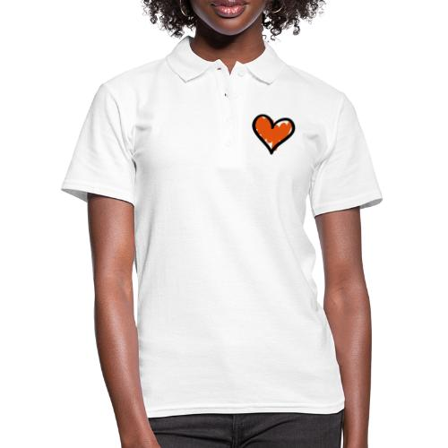 Heart Symbol Pixellamb - Frauen Polo Shirt