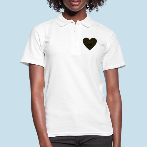 Katzen Herz Spirale 2 Färbig - Frauen Polo Shirt