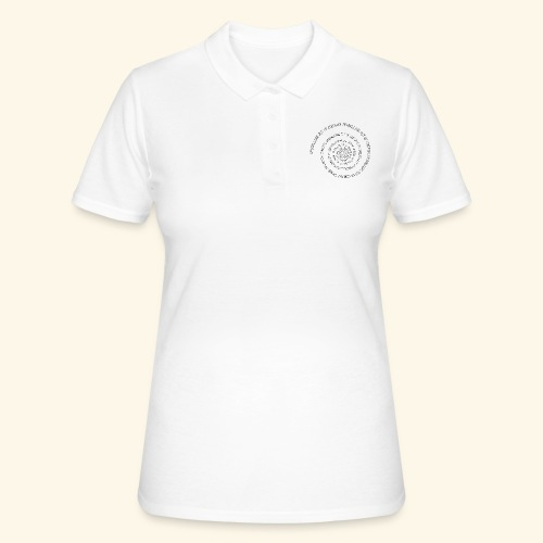 SPIRAL TEXT LOGO BLACK IMPRINT - Women's Polo Shirt
