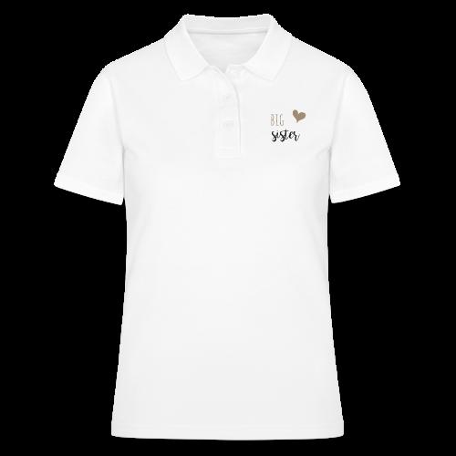 big sister Familyshirt - Frauen Polo Shirt