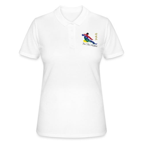Taekwondo Flying Kicking-man For the Players - Women's Polo Shirt