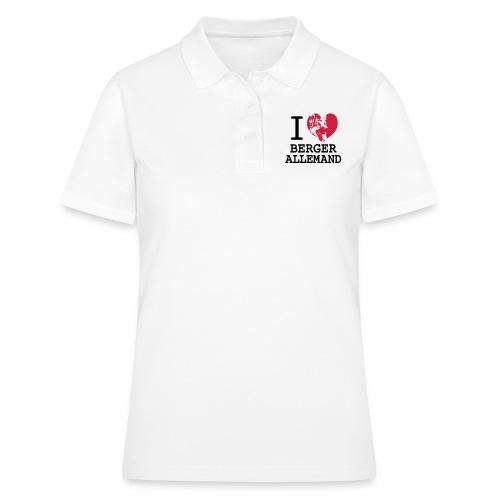 I love Berger Allemand - Women's Polo Shirt