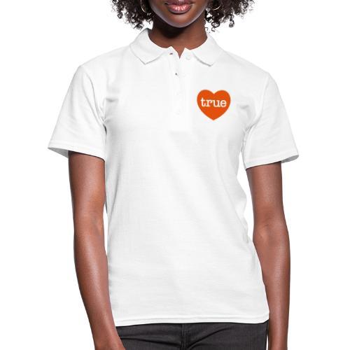 TRUE LOVE Heart - Women's Polo Shirt