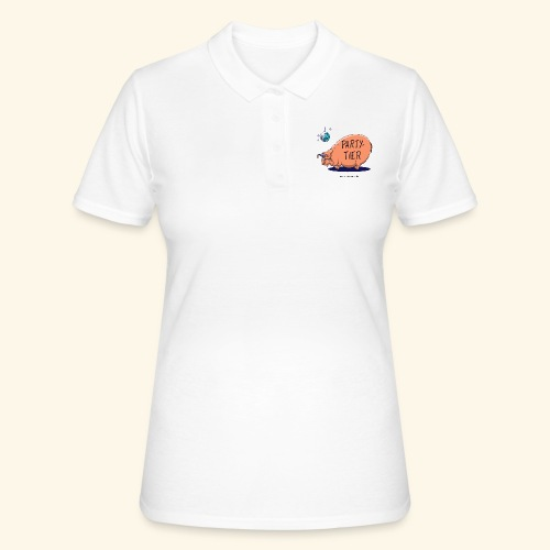 Partytier Schwein Fete Feier Party Sau - Frauen Polo Shirt