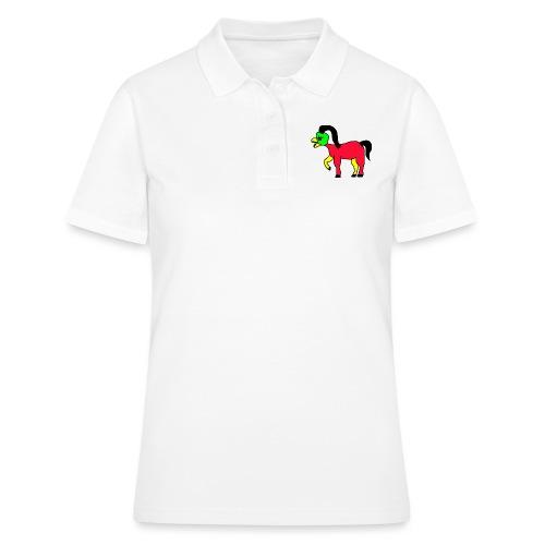 Vogel Pferd Verrückt - Frauen Polo Shirt
