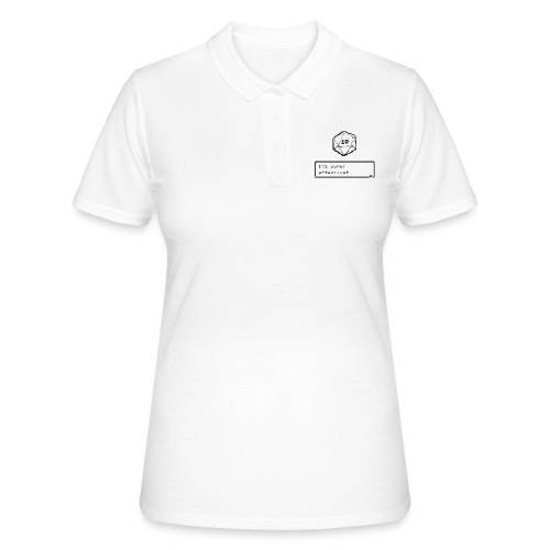Kriittinen osuma d20 Super Effective! - D & D Dnd - Women's Polo Shirt
