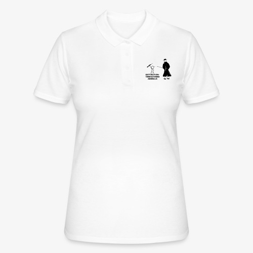 Pissing Man against hunting for endangered animals - Frauen Polo Shirt
