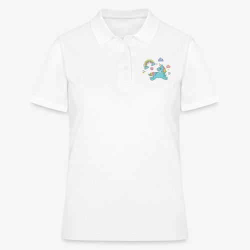 colored unicorn - Women's Polo Shirt