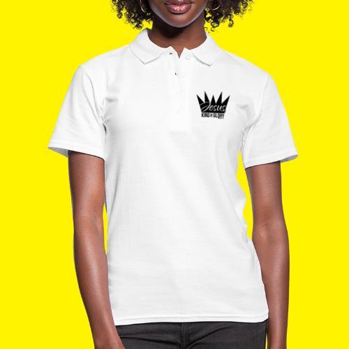 JESUS KING OF GLORY // Psalm 24:10 (BLACK) - Women's Polo Shirt