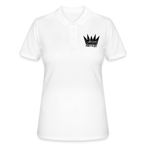 JESUS KING OF GLORY // Psalm 24:10 (BLACK) - Women's Polo Shirt
