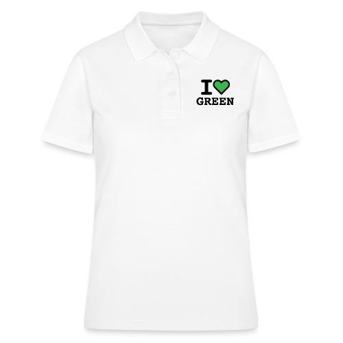 i-love-green-2.png - Women's Polo Shirt