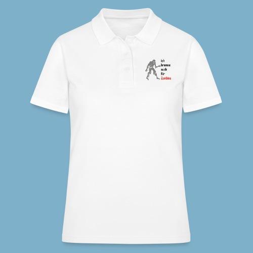 ich bremse auch für Zombies - Frauen Polo Shirt
