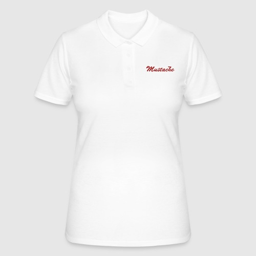 Red Mustache Lettering - Women's Polo Shirt