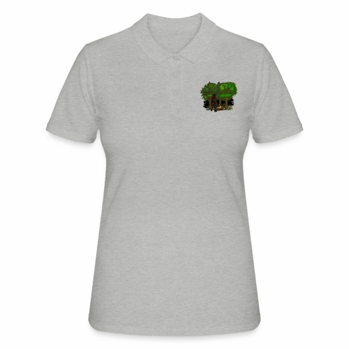 Bigfoot Campfire Forest - Women's Polo Shirt