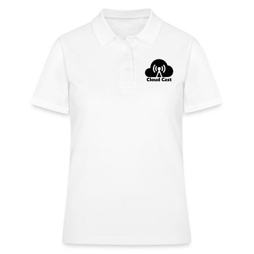 Cloud Cast Black mit Schriftzuga - Frauen Polo Shirt