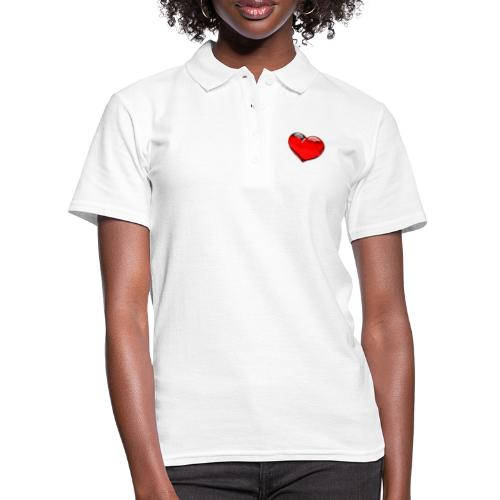 serce 3D - Koszulka polo damska