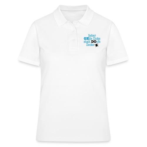 Lieber Zicke statt Zecke - Frauen Polo Shirt