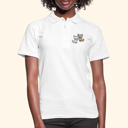 deux chats pixel - Women's Polo Shirt