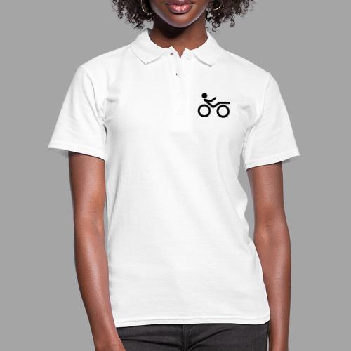 Recumbent bike black 2 - Women's Polo Shirt