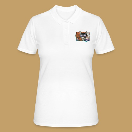 Crime Cat in Shades - Women's Polo Shirt