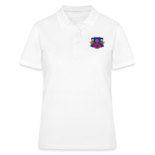 Tintenklecks mit Grusel-Alien in der Mitte - Frauen Polo Shirt