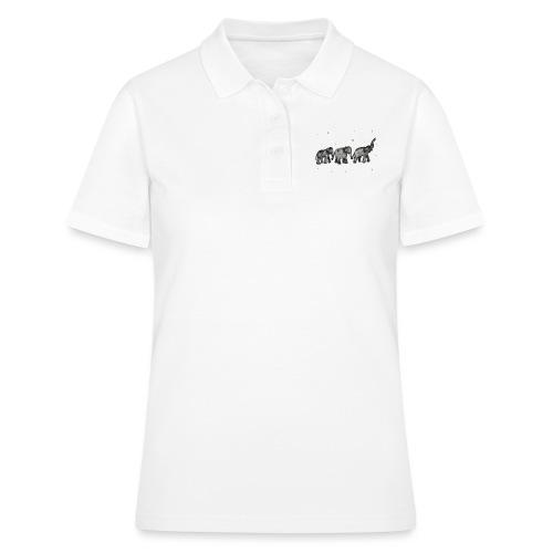 Akwarelowe słoniki - Women's Polo Shirt