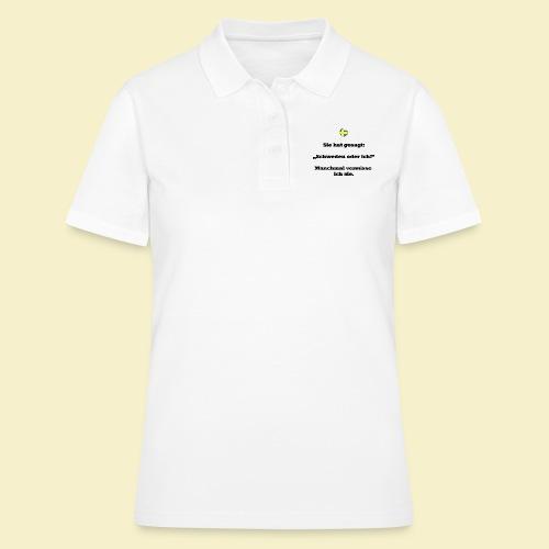 T-Shirt Schweden Herz schwarz für ihn - Frauen Polo Shirt