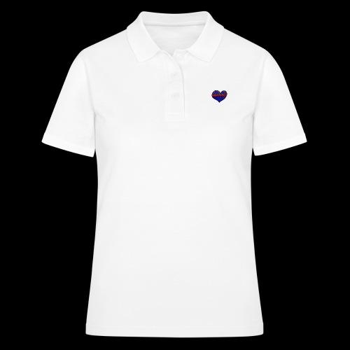 Herz Leben Welt Love you Blau - Frauen Polo Shirt