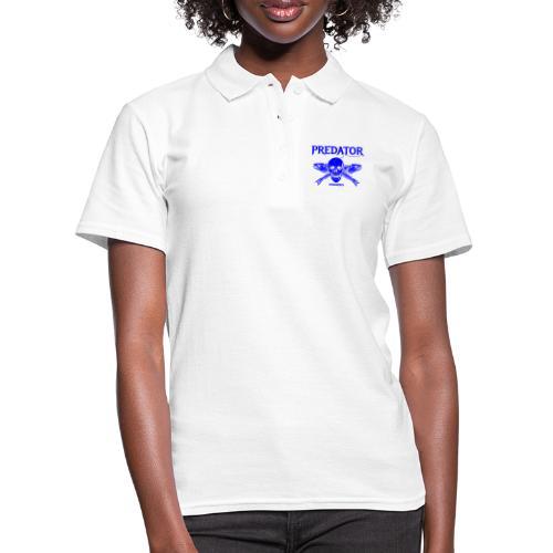 Predator fishing blue - Frauen Polo Shirt