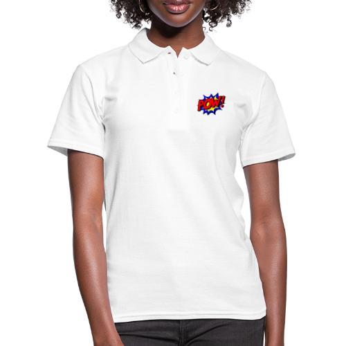 pow, wow, boom, power, powerful, powerful man - Women's Polo Shirt