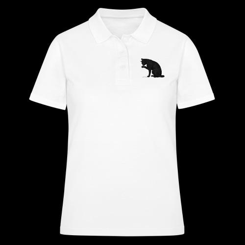 chat noir élégant - Women's Polo Shirt