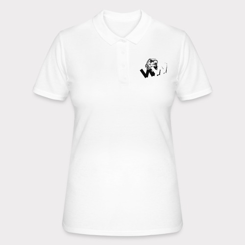 White and Black W with eagle - Women's Polo Shirt