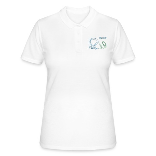 big_loop_coaster_shirt_line - Frauen Polo Shirt