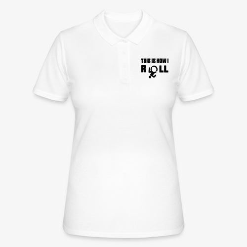 Zo rol ik in mijn rolstoel 017 - Women's Polo Shirt