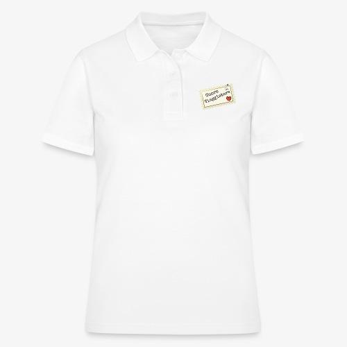 CUORE VIAGGIATORE Scritta con aeroplanino e cuore - Women's Polo Shirt