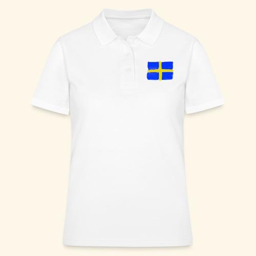 Swedish flag in Watercolours - Women's Polo Shirt
