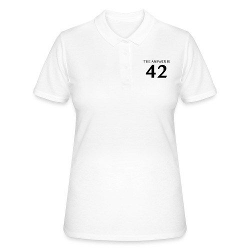 The Answer is 42 Black - Women's Polo Shirt