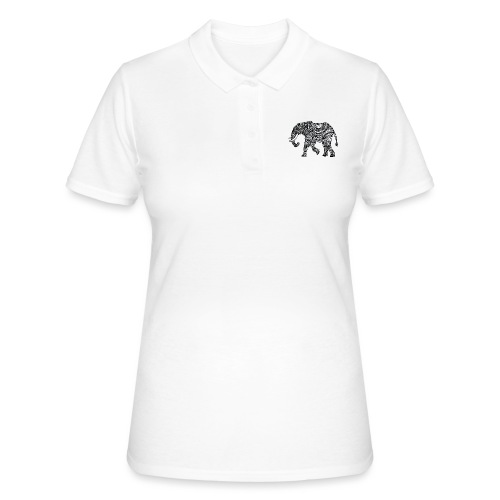 Elefant, gemustert - Frauen Polo Shirt