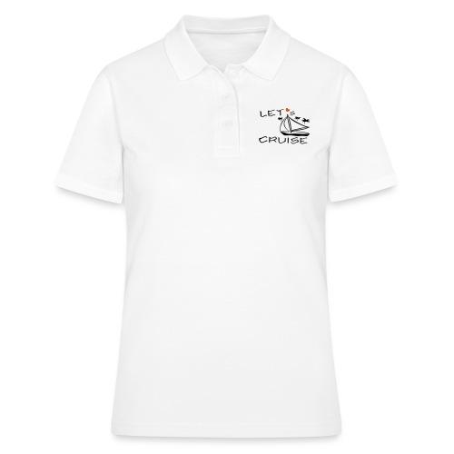 Kreuzfahrt, Segelboot, Palmen - Frauen Polo Shirt