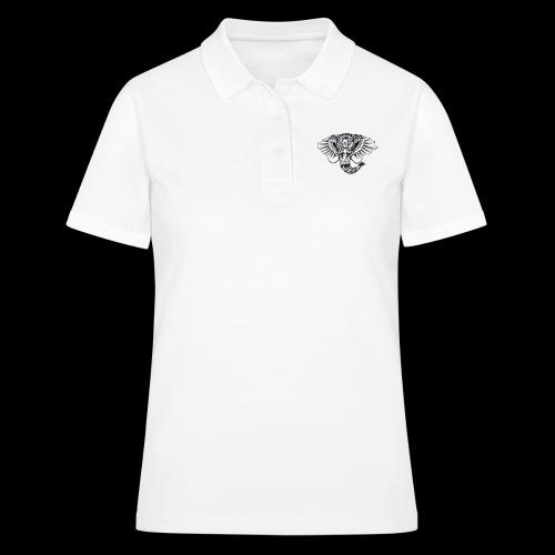 Elephant Ornate Drawing - Women's Polo Shirt